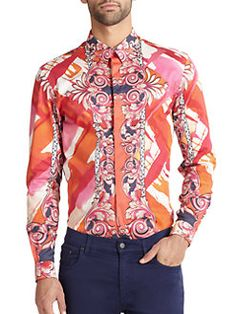 Versace Collection - Baroque Abstract Sportshirt