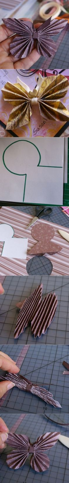 how to DIY Paper Butterfly with Paper Scrap | www.FabArtDIY.com