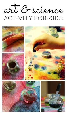 Art and Science Activity for Preschool - easy and inexpensive too!