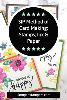 Grab your stamps, ink and paper and let me teach you the SIP method of card making. Perfect for beginning card makers or anyone who is limited on time but wants to make a quick card. Get started at www.klompenstampers.com #sipcards #cardmakingideas #beginningcardmaking #cardmakingforbeginners #howtomakeacard #cardmakingtutorials #jackiebolhuis #klompenstampers Card Making Tips, Card Making Tutorials, Card Making Techniques, Quick Cards, Diy Cards, Your Cards, Simply Stamps, You Make Me Happy, Pretty Cards