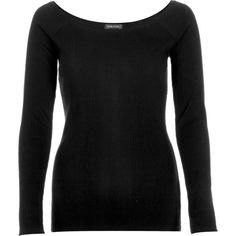 River Island Black scoop neck long sleeve top ($28) ❤ liked on Polyvore featuring tops, black, long sleeve t-shirts, t shirts / tanks / sweats, women, black top, ribbed top, fitted black top, scoopneck top and scoop neck top
