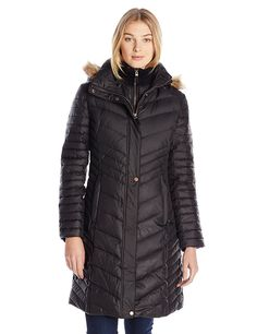 Marc New York by Andrew Marc Women's Karla Mid-Length Chevron Down Coat *** This is an Amazon Affiliate link. Click on the image for additional details.