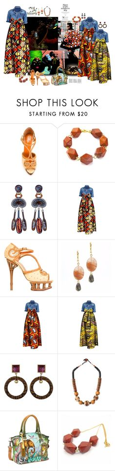 """""""Africa"""" by marionmeyer ❤ liked on Polyvore featuring Out of Africa, Charlotte Olympia, Salome, Ayala Bar, NOVICA, Anuschka and africa"""