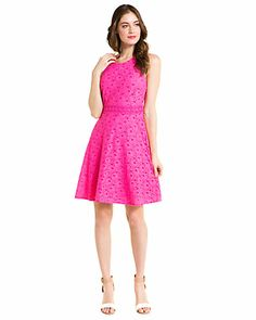 Laundry by Shelli Segal Pink Lace Dress