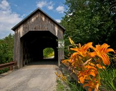 Halpin Covered Bridge ... Between Middlebury and New Haven, Vermont, USA The original builder and date of the bridge are not known. Many place the date in the 1850's, but some as early as 1824. If it was built in 1824 it would be the oldest covered bridge in the U.S..