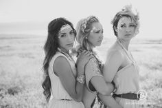 """The """"Don't mess with my girls"""" face. Desert Shoot Makeup by Behrens Artistry, Hair by Kelsey Pence Artistry, Photography by Ampersand Studios 2014"""