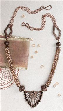 Spirals & Filigree - Media - Beading Daily. Russian spiral necklace.