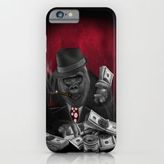 MOB of the apes IPHONE & IPOD CASE @pointsalestore #society6 #iphone #Case #CellPhone #hardcase #cover #digital #oil #streetart #popart #humor #cute #animal #apes #monkey #gorilla #planetoftheapes #mafia #money #rich #vintage #smoking #cigarette #cigar #likeaboss