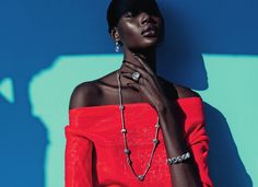 Colour Culture --- Ajak Deng by Julia Noni for Neiman Marcus March 2015 [Editorial[