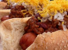 Tantalizingly Tangy Chili-Cheese Dogs from NoblePig.com