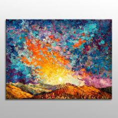 Large Oil Painting Landscape, Abstract Wall #extralargepainting #oilpainting #customoilpainting #largeart #kitchendecor #canvasart #abstractpainting #largewalldecor #modernpainting #livingroomwallart #canvaspainting #abstractart #bedroomwalldecor Small Canvas Paintings, Original Paintings, Canvas Art, Painting Canvas, Oil Paintings, Oil Painting Abstract, Abstract Wall Art, Canvas Wall Decor, Painting Process