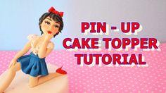 how to make pin-up cake topper fondant - tutorial corpo e viso in pasta ...