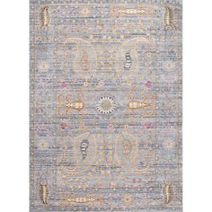 nuLOOM Traditional Vintage Fancy Floral Grey/Multi Rug (7'10 x 10'10) | Overstock.com Shopping - The Best Deals on 7x9 - 10x14 Rugs