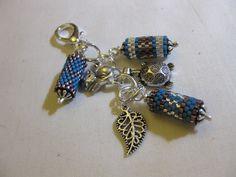 Peyote Bead and Charm Handbag Accessory