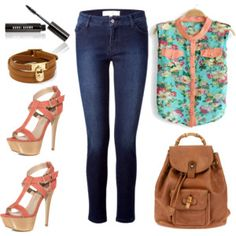 Floral and Denim by DMS Design Assistant jhoman96