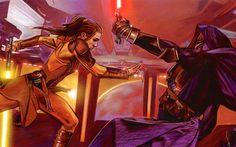 Star Wars wallpaper: Bastila and Revan by McNealy.deviantart.com on @deviantART
