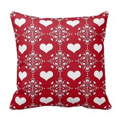 Adorable Red and White Damask with Hearts Throw Pillows => http://www.zazzle.com/adorable_red_and_white_damask_with_hearts_pillow-189292898323186695?CMPN=addthis&lang=en&rf=238590879371532555&tc=pinredandwhitedamaskheartspillow