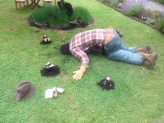 Brilliant scarecrow idea done by National Trust Volunteers at Wordsworth's house…