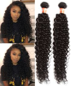 """18""""18""""18"""" US Local Black Human Hair Extension 3Bundles Afro Curls Hair Wefts #WIGISS #HairExtension"""