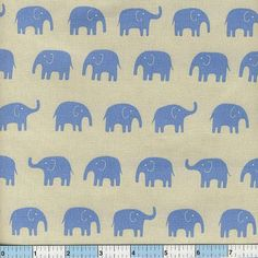 "These happy elephants are just hanging out, expecting to be the highlight of your next sewing project! This is medium-weight fabric.<p>This Japanese fabric is 43/44"" wide, and the fiber content is 100% cotton. Price per yard.</p>"