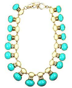 Ann Klein Ivory & Turquoise Collar Necklace