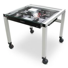 A cool Table PC. I love the idea of building a PC into a desk, putting it under…