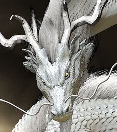 龍の絵「白龍」自作 A4 Beautiful Dragon, Beautiful Fantasy Art, Magical Creatures, Fantasy Creatures, Character Design Animation, Character Art, Crocodile Animal, Koi Dragon, Dragon Heart