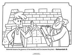 nehemiah bible study for kids coloring pages | Map of the wall built around Jerusalem by Nehemiah ...