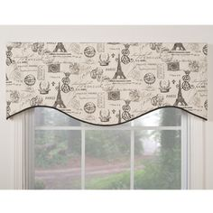 @Overstock.com   Paris Themed M Shaped Window Valance   These 100