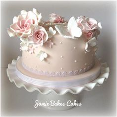 Roses and butterflies Jamie Bakes Cakes