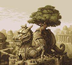 Extraordinary Pixel Art Illustrations by Foolstown | Abduzeedo Design Inspiration