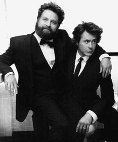 Zach Galifianakis and Robert Downey Jr.