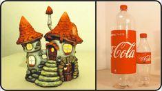 ❣DIY Fairy House Inn Lamp Using Coke Plastic Bottles❣