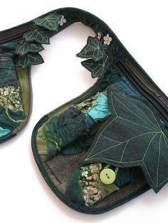 contrasting leaf vein stitching