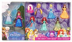 8-PC Doll Gift Set: 3.75 Disney Princess, featuring Anna and Elsa from Frozen * Click on the image for additional details.