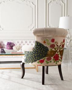 Haute House Cream Peacock Chair - Neiman Marcus