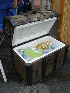 Pirate Treasure Chest Cooler -- perfect for Buffett concerts!!