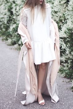 white chanel lookalike dress