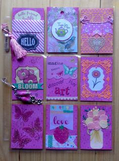 Pocket letter - front view. Pink/friend theme