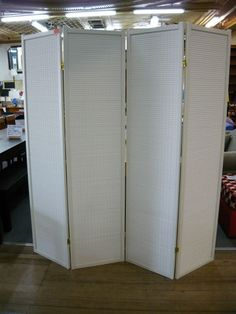NEW 4 Panel Folding Screens Room Divider Screen Privacy Partition White | eBay
