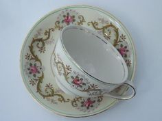 Antique Dishes Johnson Brothers | Older vintage Johnson Brothers Pareek china with pink roses border ...
