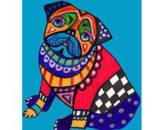 Cavachon Art Dog Poster art dog Poster Print by HeatherGallerArt