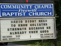 Church sign in Tennessee, dbowsm