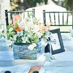 orange wedding bridal bouquets, bridesmaid bouquets, centerpieces