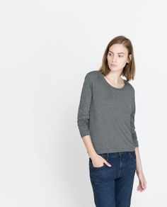 Streifenpullover mit Ellbogenschonern | Zara