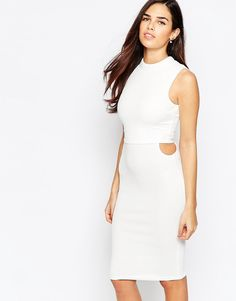 Image 1 ofAX Paris Overlay Dress with Cut Out Side Detail