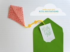 Easy Origami Kite Invitation