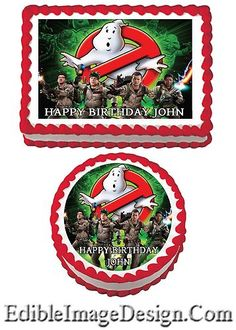Ghostbusters Edible Cake Cupcake or Cookie by TheCakeTopperZone 3rd Birthday Parties, Birthday Cupcakes, Birthday Party Decorations, Boy Birthday, Birthday Ideas, Firefighter Birthday, Ghostbusters Birthday Party, Ghostbusters Cake, Happy Birthday John