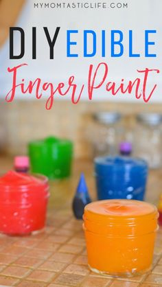 DIY Edible Finger Paint - My Momtastic Life