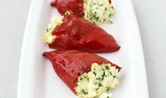Traditional Greek Peppers Stuffed with Feta Cheese Recipe. Greeks love their feta cheese! Follow this traditional Greek peppers stuffed with feta cheese recipe and transport yourself to your favourite Greek taverna!    #vegetarian #recipe #starter
